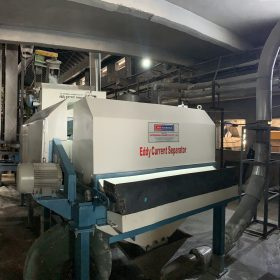 Eddy Current Separator Installed In Pet Recycling Plant